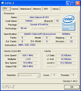 Eee PC CPU 630MHz