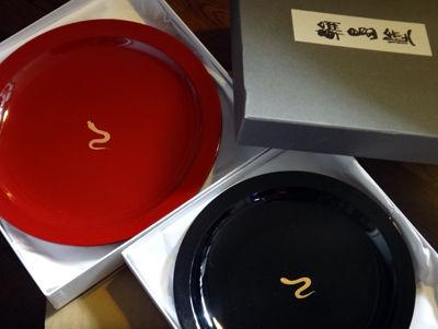 干支蒔絵皿1