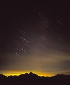 槍ヶ岳星夜