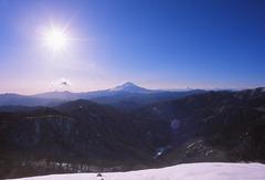 塔の岳山頂より富士