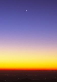 雲取山早朝 明けの明星