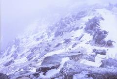 観音岳直下 氷雪