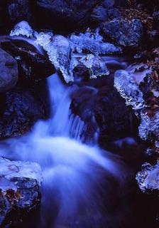 三條の湯 冬の流れ 小生選択