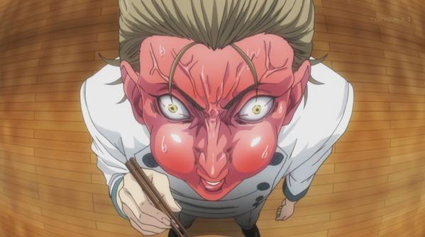 【食戟のソーマ 餐ノ皿 8話 感想】 先輩の顔芸最高過ぎるわwwwww