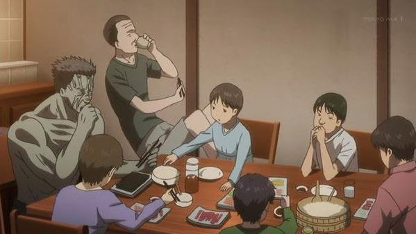 【刻刻 10話 感想】 佐河さんのキツイ過去も、一家団欒に突入して手巻き寿司食ってる絵面で頭に入らなかったわww