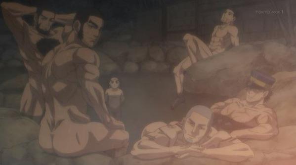 【ゴールデンカムイ 21話 感想】 野郎の裸体ばっかだったな…