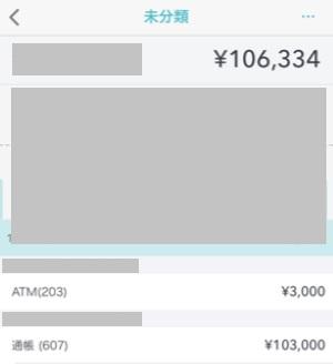 家計簿アプリ「マネーフォワード」の未分類の収入