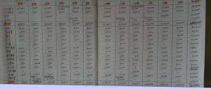 家計診断記入例(銀行支出)
