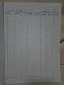 毎月の家計簿の見本(記入例)費目(区項目)の書き方