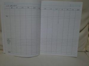 年間の家計簿の見本(記入例)基本項目の書き方