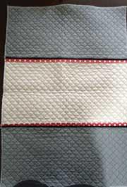 切り替え布を1枚に縫い合わせる方法