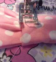 布リボンの縫い付け方