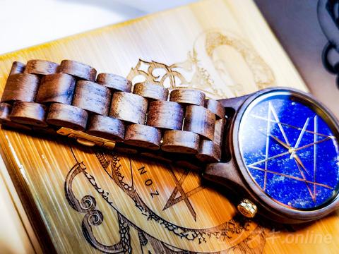 天然石×天然木の時計NOZ 木製バンド