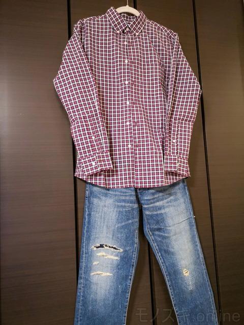 ユニクロ EFCブロードシャツ×ジャパンブルージンズCALIF