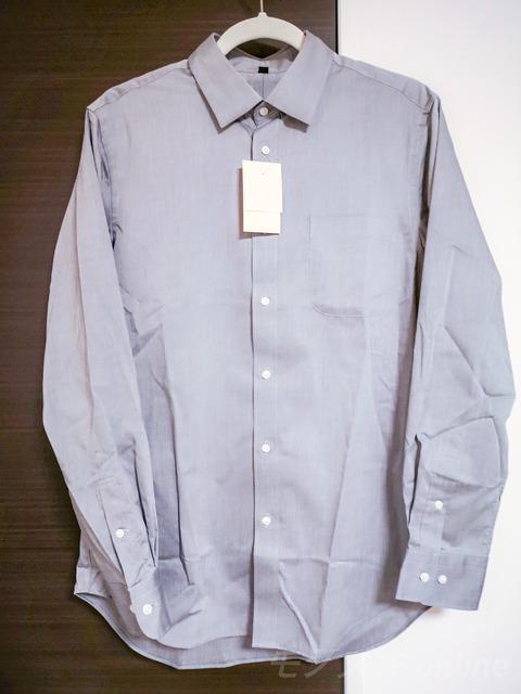MUJI 新疆綿形状記憶ストレッチブロードシャツ