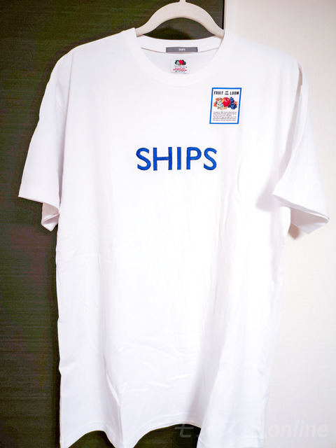 SHIPS刺繍T 吊るし