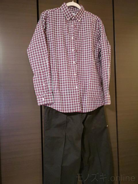 ユニクロ EFCブロードシャツ×ルメールパンツ