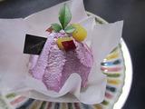 紫芋のモンブラン。