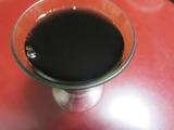 黒豆煮汁。