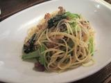 小松菜と豚肉のゴマ風味。