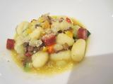 レンズ豆とチョリソのニョッキ。