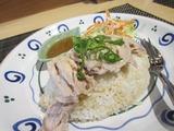 蒸し鶏ご飯。