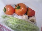 トマト、ゴーヤ、ニンニク。