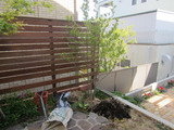 バーベキューもできるお庭だよ。