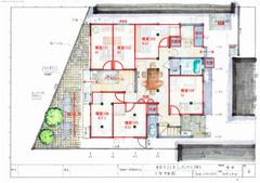 米田建築士シェアハウスプラン1F6Room【7畳ルール】