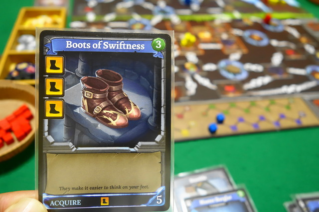 移動力が上がるブーツのカード