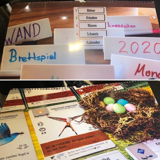 ボードゲームのカレンダー2020
