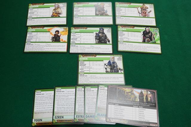 7人のキャラクターカード