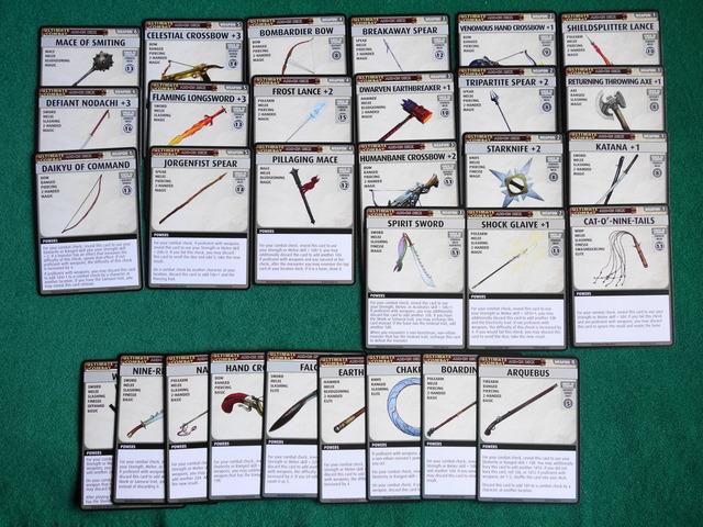 全武器カードの写真