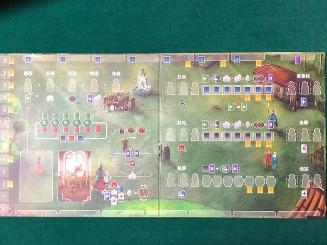 ソロプレイ用プレイヤーボードの写真