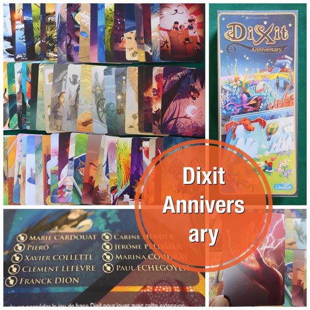 ディクシット:アニバーサリーのカード写真と記事タイトル