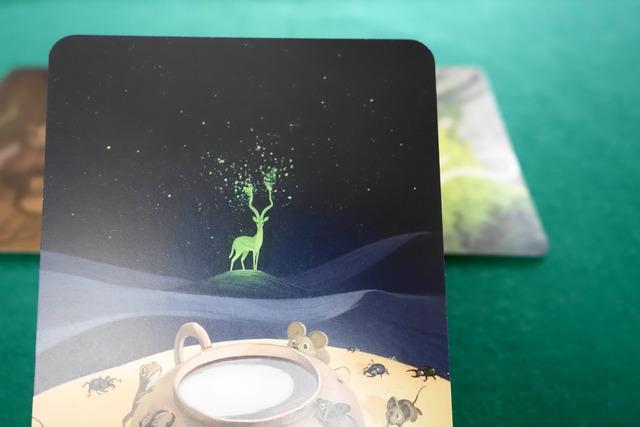 牡鹿が描かれたカード写真