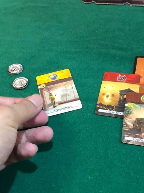 石材アイコンのある商業カードの写真