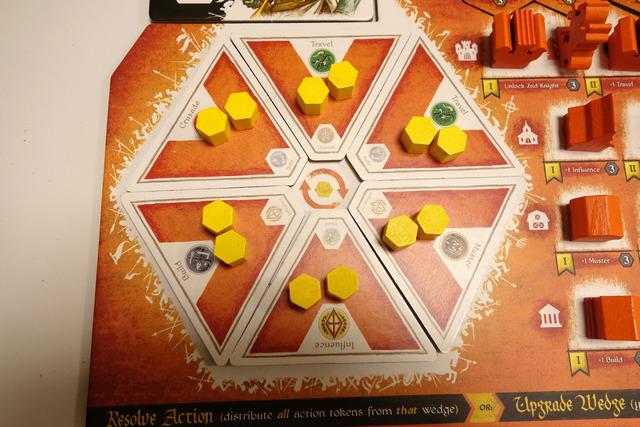 プレイヤーボードのマンカラシステム部分の写真