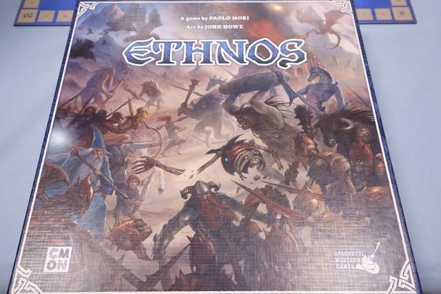ボードゲーム『エスノス』のパッケージ