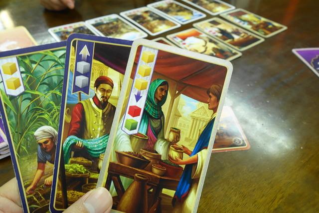 商人カードを1枚手札に入れた