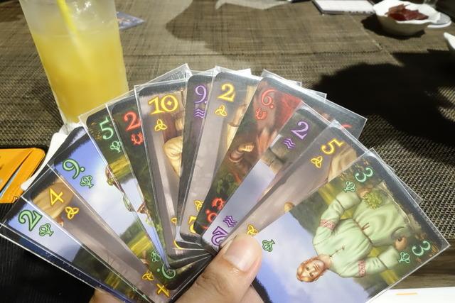 カードゲーム「ドルイド」の手札の写真