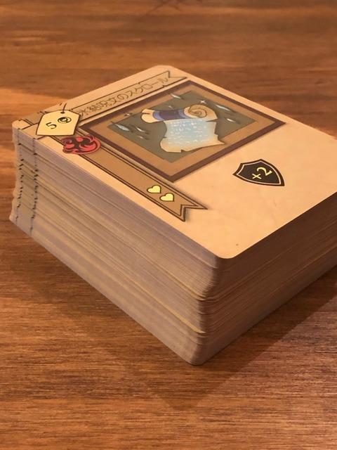 アイテムカードを重ねたところ