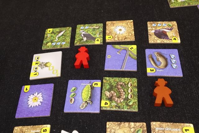 ゲームのタイルが並んでいる写真