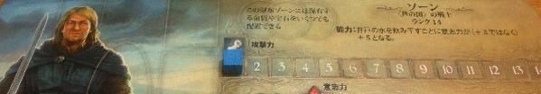 戦士ソーンのプレイヤーボード1部