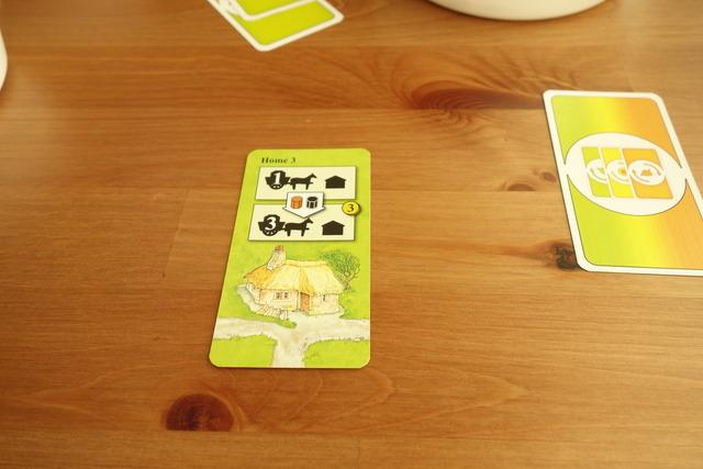プレイヤーの場に置かれたカード1枚の写真