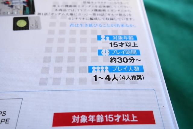 プレイ人数や対象年齢などのデータ