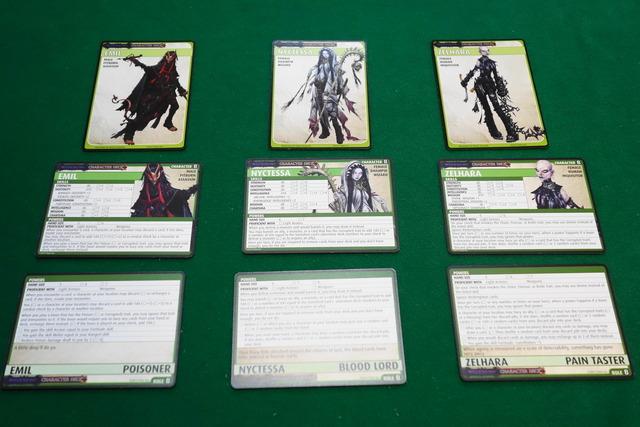 3人のキャラクターカードの写真