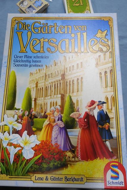 ボードゲーム「ヴェルサイユ庭園」のパッケージ写真