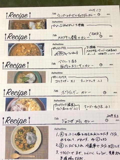 カレーのレシピカード写真