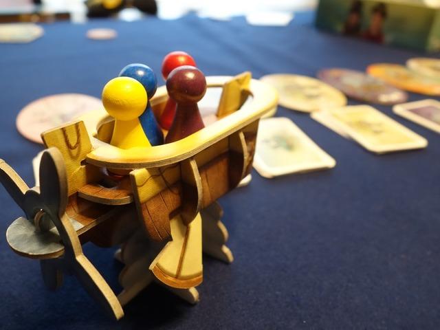 飛空艇上のコマ別の角度